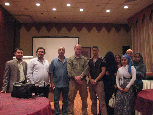 I had the great honor of training Egyptian political activists in Ismailiya in 2011.