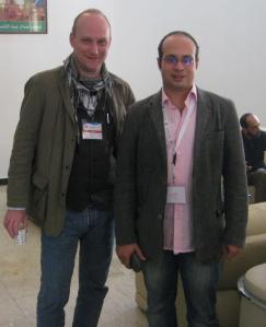 With Ahmed Maher, Tripoli, Libya, March 2013