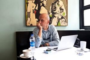 Former NDI employee Robert Becker awaiting the verdict in Cairo on Tuesday morning. ZUMA Press.